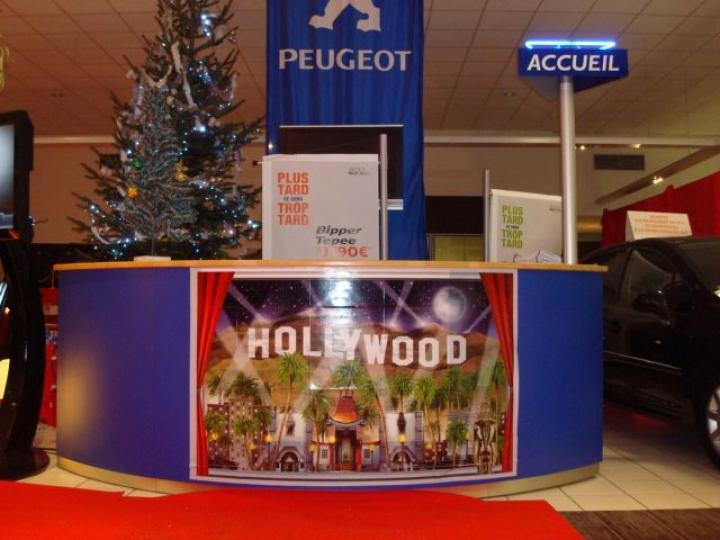 Peugeot sur un thème Hollywood, Cinéma