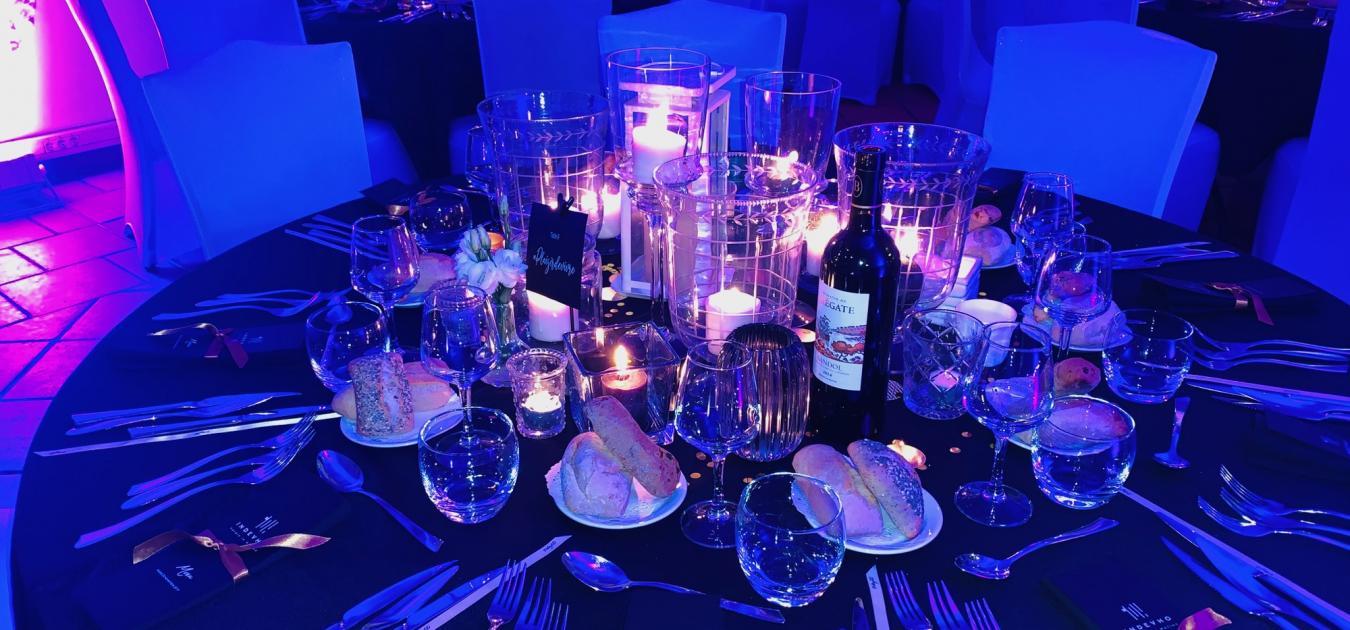 Diners et soirées de gala, événements professionnels