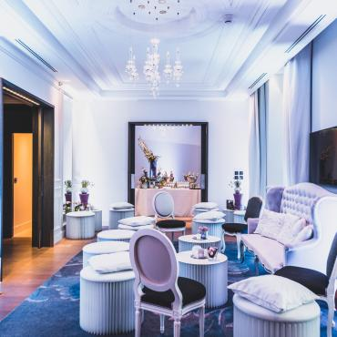 Une suite relookée en salon pour un cocktail dinatoire à l'Intercontinental