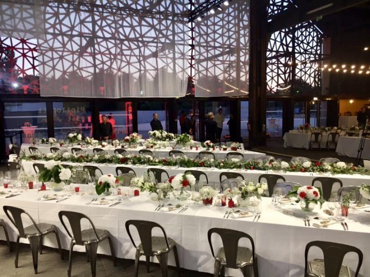 Anniversaire d'entreprise au LUMA, chef gastronomique et décoration