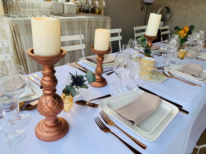 Location Art de la table, Vaisselle, verres, couverts, seaux à champagne...